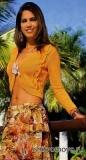 Бесплатное вязание спицами модели и схемы: болеро с рукавами цвета дыни