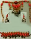 Украшения из бисера: комплект - колье, браслет и серьги