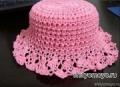 Вязание крючком схемы модели бесплатно: розовая шляпка
