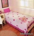 Вязание крючком схемы модели бесплатно: розовое покрывало для девочки