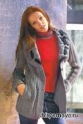 Вязание спицами: бесплатные модели и схемы вязания - серый жакет