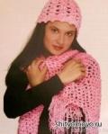 Вязание крючком схемы бесплатно: розовая шаль