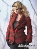 Бесплатные модели вязания спицами со схемами: меланжевый жакет