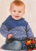 Детский вязаный пуловер с орнаментом