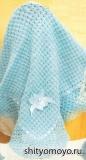 Вязание для детей: голубой плед. Описание и схемы бесплатно