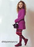 Детское мини платье, связанное спицами. Описание и схемы бесплатно