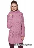 Розовая туника, связанная спицами. Описание и схемы бесплатно