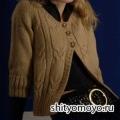 Жакет с рукавом реглан, связанный спицами. Описание и схемы вязания бесплатно