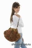 Сумка-мешок из пряжи Травка, связанная спицами. Бесплатное описание
