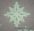 Новогодние поделки своими руками: снежинка 3 - распечатай и вырежь