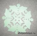 Новогодние поделки своими руками: снежинка 5 Ангелочки - распечатай и вырежь