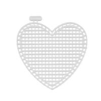 Канва пластик, KPL-05, сердце малое, 7х8см, арт 7707133