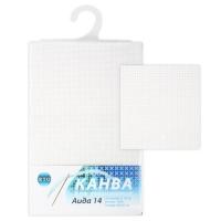 Канва в упаковке Aida14, 100% хлопок, 46х50см, 14001к, белый