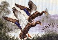 Канва с рисунком 37/49см, Утиная заводь Матренин посад, арт 1146