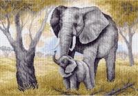 Канва с рисунком 37/49см, Слониха Матренин посад, арт 616