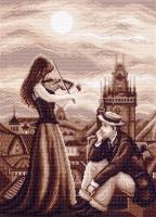 Канва с рисунком 37/49см, Мелодия в ночи Матренин посад, арт 1460