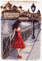 Канва с рисунком 37/49см, Вечер на набережной Матренин посад, арт 1451