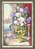 Набор для вышивания ЛЦ-026 Петербургская соната (Россия) 35х24 см, Аида кремовая №18, 58 цветов