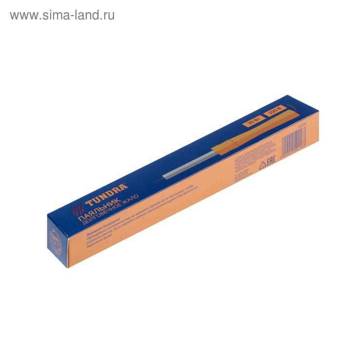 Паяльник TUNDRA, деревянная рукоятка, 30 Вт, 220 В 1550216