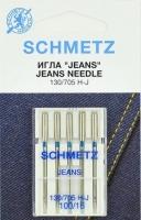 Иглы машинные Schmetz J джинс №100, 62102