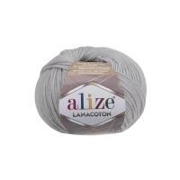 Пряжа Ализе Лана Коттон (420 облачно-серый)