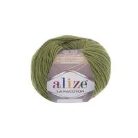 Пряжа Ализе Лана Коттон (485 зеленый)