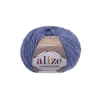 Пряжа Ализе Лана Коттон (374 голубой меланж)