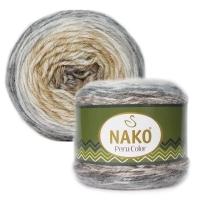 Пряжа Nako Peru Color (32186 бежевый-серый-коричневый)