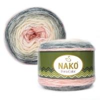 Пряжа Nako Peru Color (32183 молочный-серый-персик)