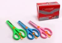 Ножницы детские цвет ассорти, тупой наконечник, зиг-заг