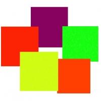 Бумага А4 цветная самоклеещаяся микс, набор 5 листов