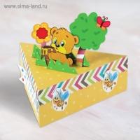 Набор для создания коробочки-конфетницы Мишка + декор