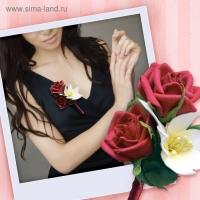 Набор для создания бутоньерки из фоамирана Красная роза