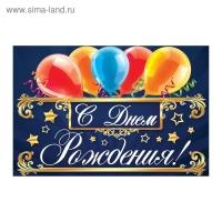 Наклейка на бутылку С Днем Рождения!, воздушные шары