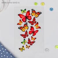 Термотрансфер Бабочки, 13х20см, цвет красный