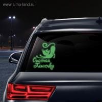 Наклейка на авто Опасная кошечка (неон светящаяся)
