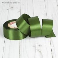 Лента атласная, 40мм, 1 м в ассортименте (55 темно-зеленый)