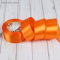 Лента атласная, 40мм, 1 м в ассортименте (24 оранжевый)