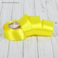 Лента атласная, 40мм, 1 м в ассортименте (15 желтый)