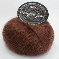Пряжа Сеам Ангора фине (191241 коричневый)