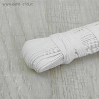 Резинка бельевая, 10 мм, белый, 1 м