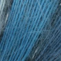 Пряжа Сеам Ангора фине принт (Пряжа Сеам Ангора фине принт, цвет 5617 белый/голубой/джинсовый синий/тёмно-синий)