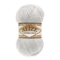 Пряжа Ализе Ангора Голд (208 светло-серый меранж)