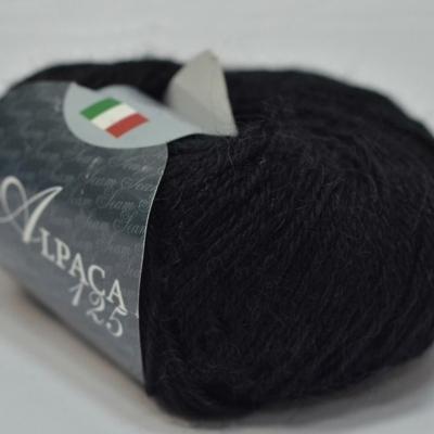 Пряжа Сеам Альпака 125 (Пряжа Сеам Альпака 125, цвет 01 черный)