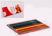 Набор трехгранных цветных карандашей 12 цветов