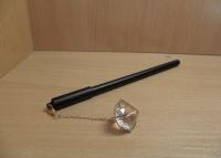 Ручка шариковая на масляной основе 0,7 мм с подвеской Бриллиант в металле