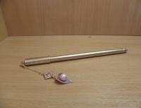 Ручка шариковая на масляной основе 0,7 мм с подвеской Лепесток с жемчугом