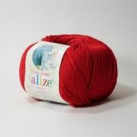 Пряжа Ализе Беби Вул (106 тёмно-красный)