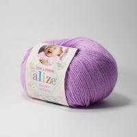 Пряжа Ализе Беби Вул (672 нежно-розовый)