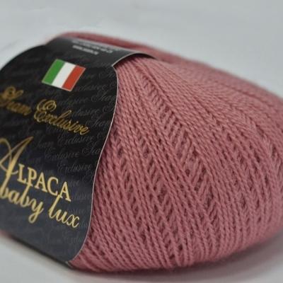 Пряжа Сеам Альпака бэйби люкс (Пряжа Сеам Альпака бэйби люкс, цвет 07 насыщенный пудрово-розовый, тёплый)
